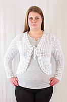Красивое ажурное болеро венгерский трикотаж большие размеры., фото 1