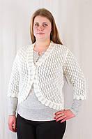 Красивая женская кофта-болеро венгерский трикотаж большие размеры., фото 1