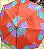 Зонт женский, трость, коричневая ручка, №T-1-A. Цена розницы 104 гривны.