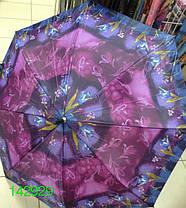Зонт женский, трость, коричневая ручка, №T-1-A. Цена розницы 104 гривны., фото 3