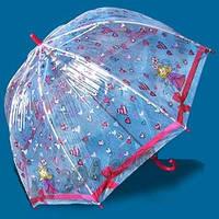 Зонт детский прозрачный трость Zest. Механический.