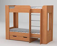 Кровать двухъярусная Твикс 2 (Компанит) ольха
