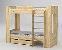 Кровать двухъярусная Твикс 2  ДСП (Компанит) 908х1974х1522мм , фото 1
