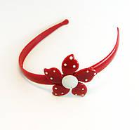 Обруч для волос детский с цветочком пластик-12 шт.- ширина 1,5 см. * Ø 12,0 см.