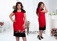 Нарядное льняное платье большого размера 50-56