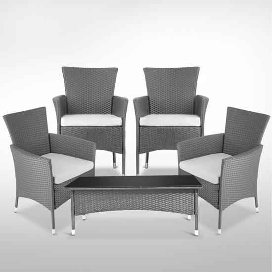 Мебель для дачи: стол, 4 кресла