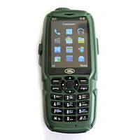 Мобильный телефон Hope S23 зеленый Land Rover 3 SIM противоударный, батарея 10000 mAh + Power Bank