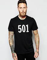 "Футболка мужская ""501"" черная"