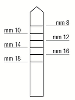 Остеотом - расширитель места имплантации, заостренный, прямой, диаметр 3,8 мм, Medessy, 1312/4Р