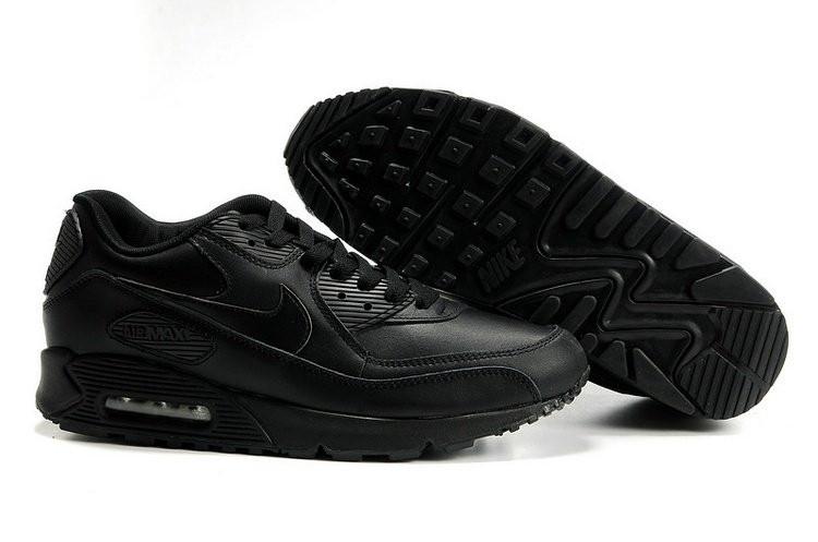 a8b63a43a094 Мужские кроссовки Nike Air Max 90 Black Leather - MaximoFF Shop в Киеве