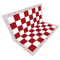 Доска складная пластиковая для шахмат и шашек Красно-белая