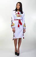 """Яркое, нарядное женское вышитое платье на длинный рукав """"Диана"""", фото 1"""