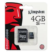 Карта памяти microSDHC Kingston 4Gb class 4 (adapter SD)