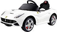 Детский электромобиль Ferrari F12 (белый) Rastar