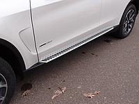 Пороги (подножки боковые) BMW X5 F15 (2013-.)