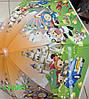 """Зонт детский, трость, """"Мультики"""", цветные. Цена розницы 135 гривен."""