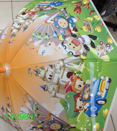 """Зонт детский, трость, """"Мультики"""", цветные. Цена розницы 135 гривен., фото 2"""