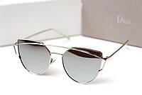 Очки женские солнцезащитные Dior Monster серебро, магазин очков
