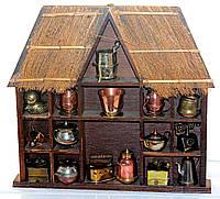 Великолепный домик с миниатюрами! Дерево Германия, фото 1