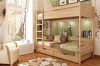 Кровать «Дуэт» (щит) — 90*190  | Цвет - 102 (бук)