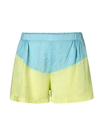 Женские желто голубые свободные шорты Derm от Desires (Дания)  в размере S, фото 2