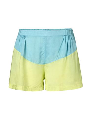 Женские желто голубые свободные шорты Derm от Desires (Дания)  в размере S