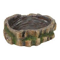 Поилка-кормушка для рептилий Trixie (Трикси) Wasser und Futterschale, 13×3,5×11,5 см