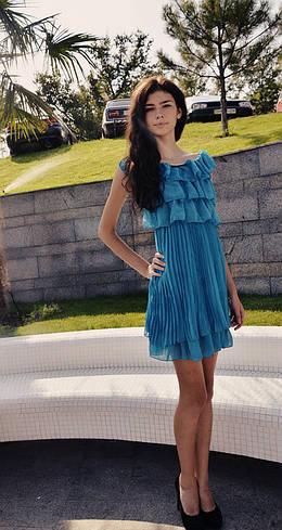 Платье шифоновое 529