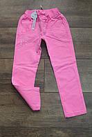 Стрейчевые котоновые брюки для девочек 98, 104, 110, 116, 122, 128 рост.