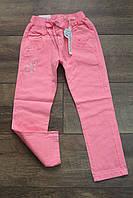 Стрейчевые котоновые брюки для девочек 98, 104, 128 рост.