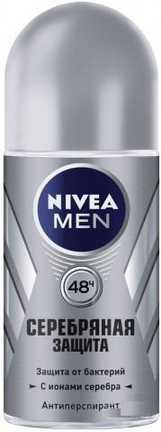 Шариковый дезодорант для мужчин Nivea Серебряная защита 50 мл.