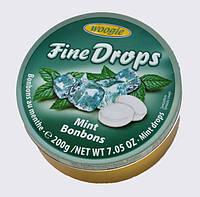 Леденцы Fine Drops Woogie со вкусом мяты, 200 гр