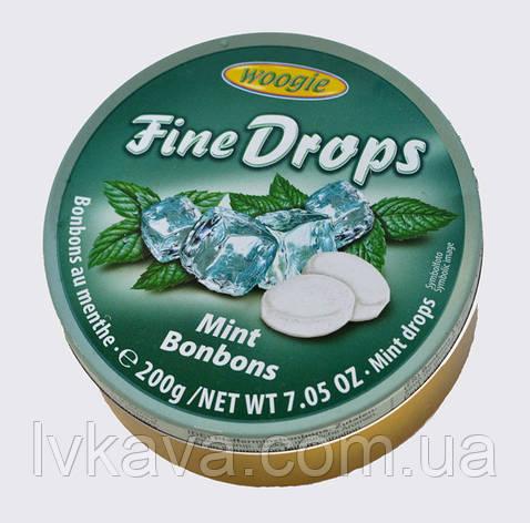 Леденцы Fine Drops Woogie со вкусом мяты, 200 гр, фото 2