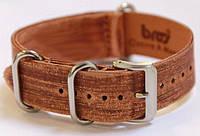 Ремешок кожаный Bros NATO Straps (Италия) для наручных часов, коричневый, 20 мм
