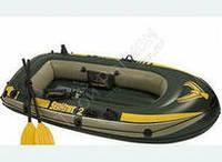Надувная 2-х местная лодка 68347 SeaHawk 2 + весла+насос
