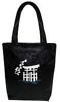 """Женская сумка """"Япония"""" Б72 - черная"""