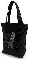 """Женская сумка - """"Пизанская башня"""" Б64 - черная"""