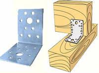 Угол перфорированный монтажный 90х90х2,0х65 для деревянных конструкций