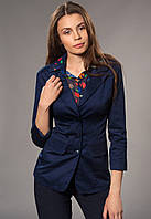 Пиджак женский удлиненный на подкладке, р-р. 42-48