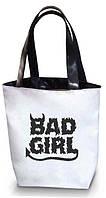 """Женская сумка - """"Bad Girl"""" Б97 - белая с черными ручками"""