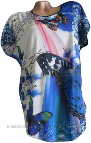 Женская блузка Полу Батал стильная
