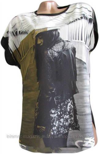 Женская футболка Батал масло