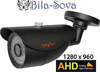 Видеокамера цветная VLC-1128WA AHD, всепогодная, 1.3 Mp (960P), ИК до 25м, f=3.6мм, OSD меню, Light Vision