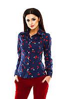 Женская рубашка хлопок, фото 1