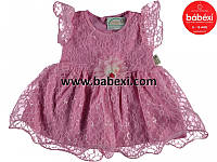 Нарядное ажурное платье для девочек 6-9 мес. 88453