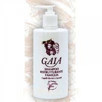"""Шампунь для волос восстанавливающий с семенами овса """"Эластичные и блестящие волосы"""" 500 мл Gaia"""