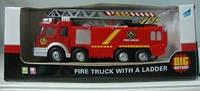 Пожарная машина с лестницей