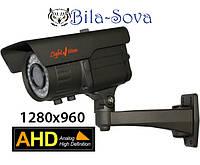 Видеокамера цветная VLC-9128WFA, AHD, всепогодная, 1.3 Mp (960P), ИК 40м, f=2,8-12мм, OSD меню, Light Vision
