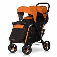 Коляска для двойни Easy Go Fusion Duo, цвет orange