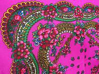 Малиновый платок Ланцы. Размер 70*75,Состав: 60 % шерсть,40 % вискоза
